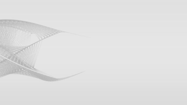 Absztrakt fehér vonal formák áramló mozgás, elszigetelt fehér háttér.