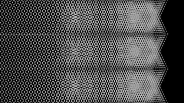 Varrás nélküli grafikus háttér geometriai mintával, izolált fekete