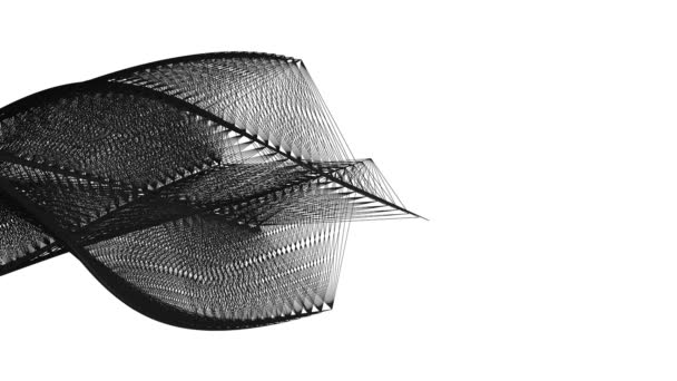 Ívelt alakú fekete folyású vonalak, izolált fehér háttér