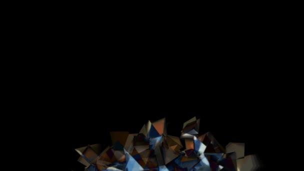 Tmavé pozadí barevných blikání diamantů v abstraktním pohybu