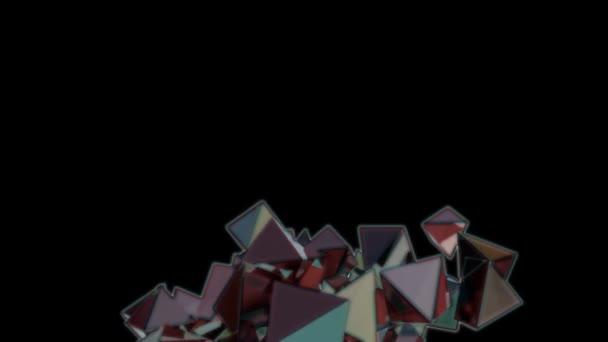 Abstraktní geometrické pozadí barevných blikajícím diamantů