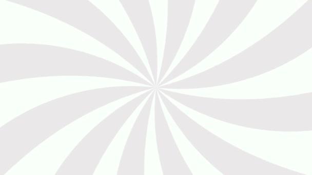 Bílá a šedá paprskovaná ukázka kruhového pozadí. Barevný zadní pop Motion video.