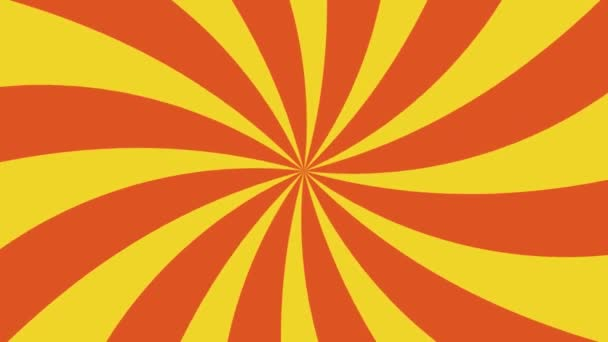 Red and yellow sunburst radial background pattern animation. Colored back Pop Motion video.