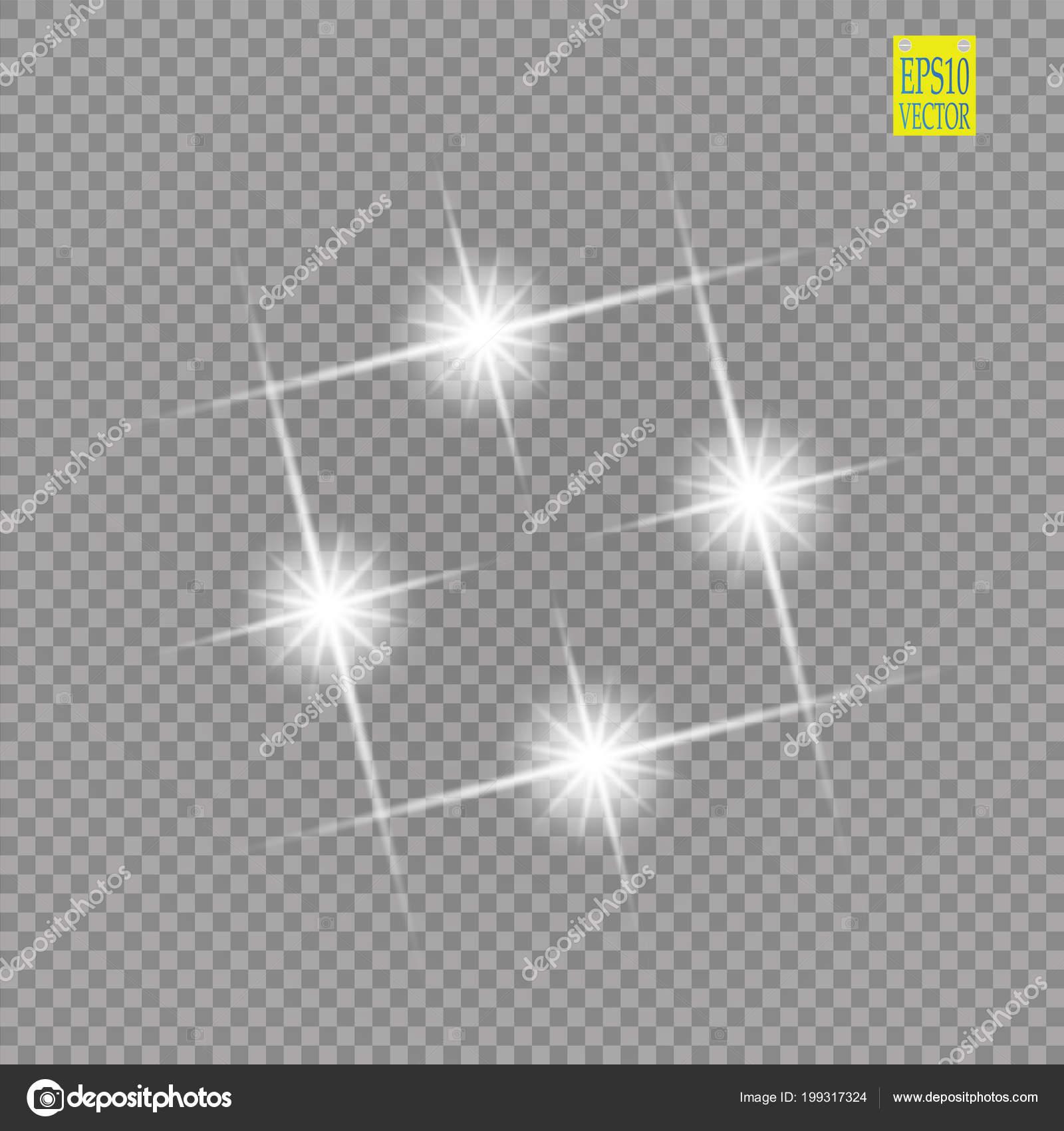 Resumen Lujo Blanco Vector Llamarada Luz Chispa Efecto Luz Marco ...