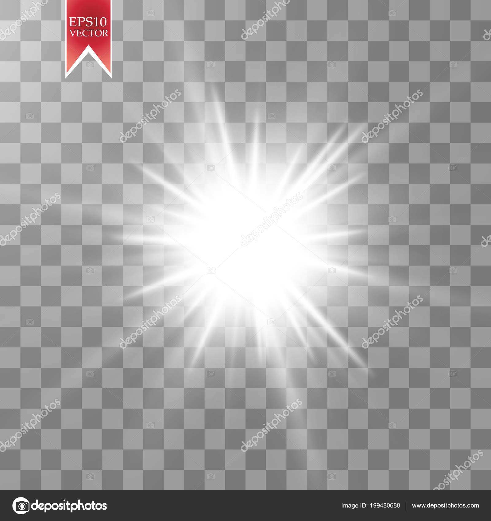 Glow Light Effect Starburst Sparkles Transparent Background