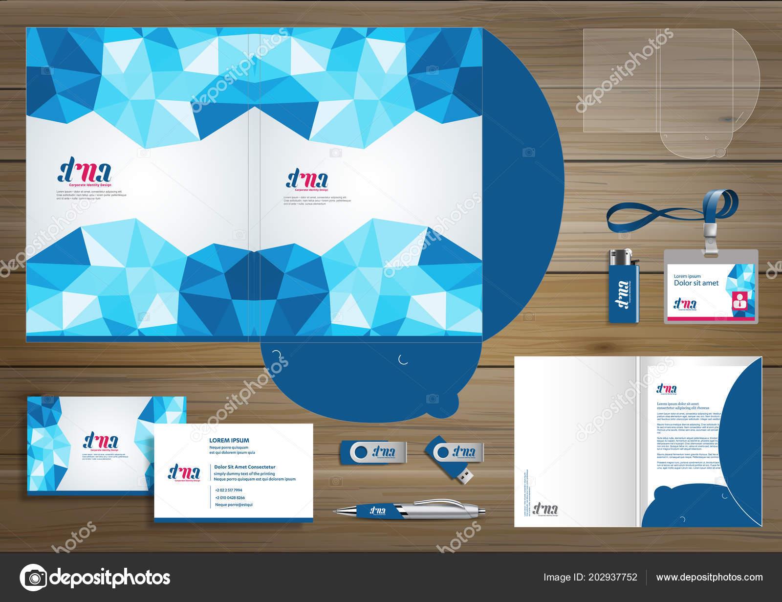 Diseño Plantilla Carpeta Para Empresa Tecnología Digital Elementos ...