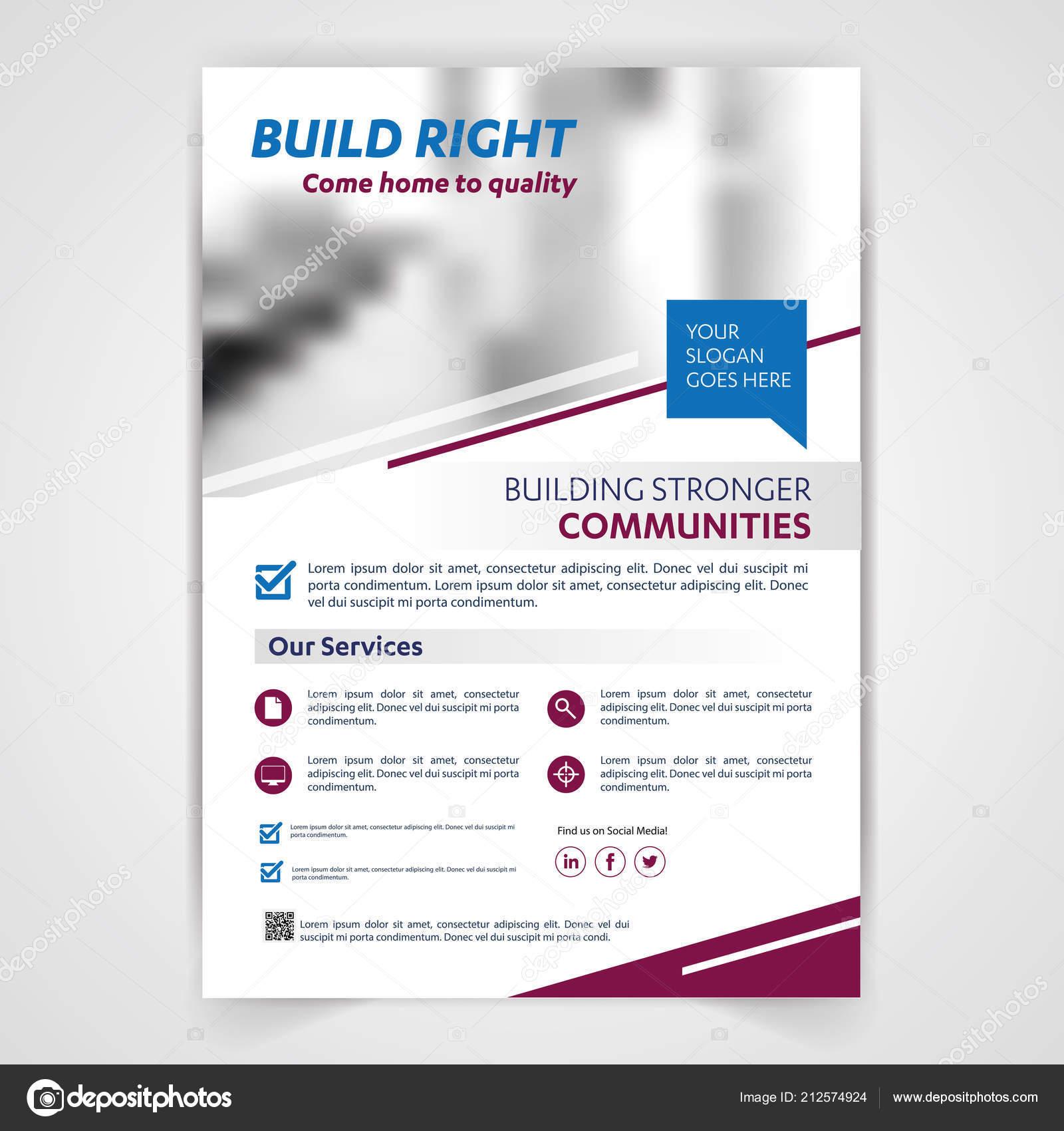 medical travel tourism real estate flyer brochure template design