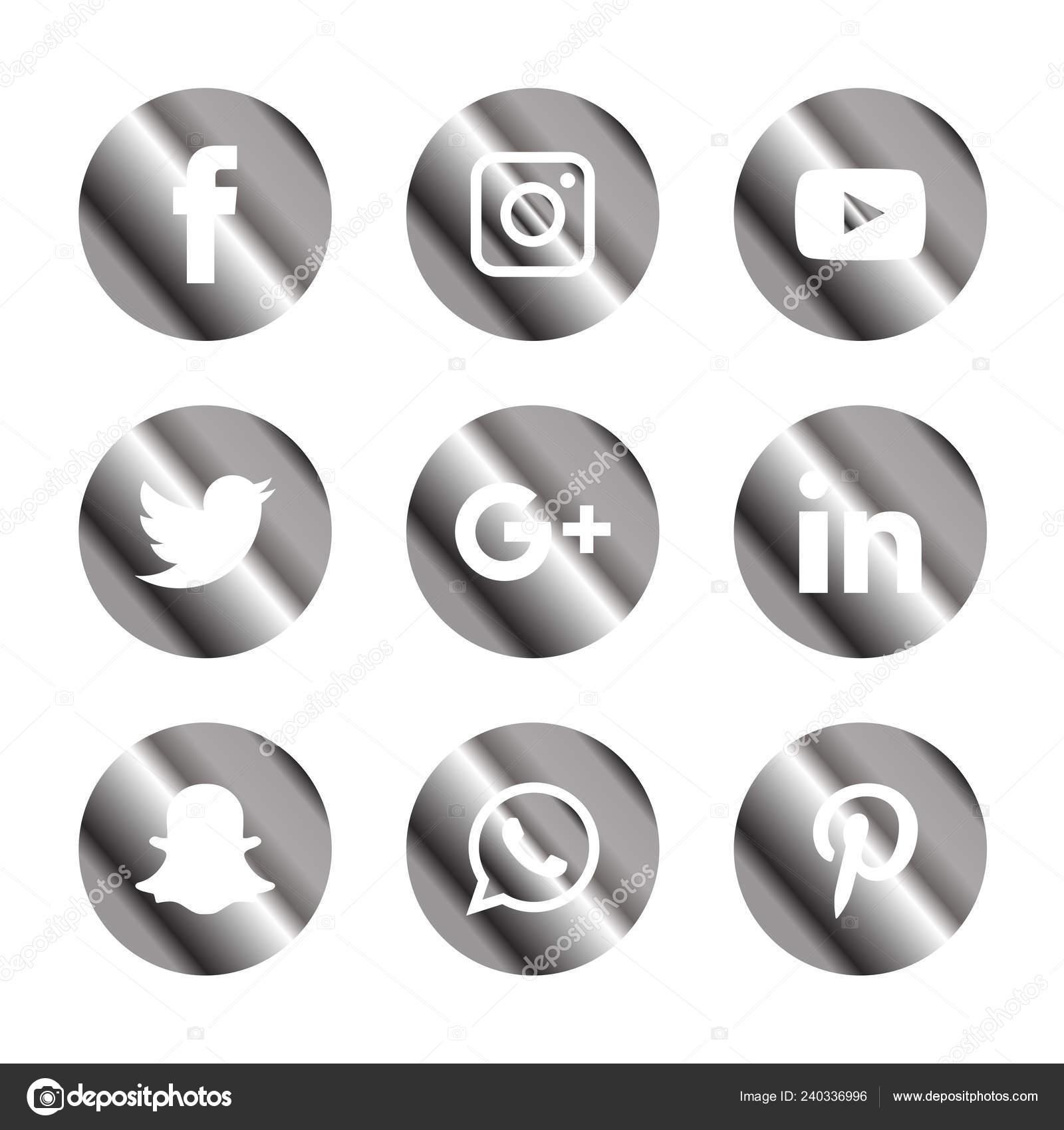 Social Media Icons Set Logo Vector Illustrator Snapchat