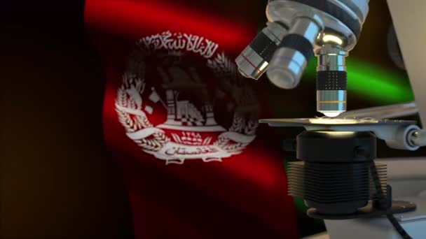 60FPS Afghanistan science concept with flag  waving, UHD 4k 3d video background