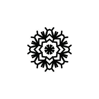 artistic modern snowflake pattern background