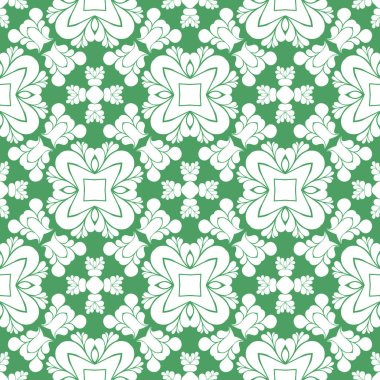 Modern abstract pattern background white and green
