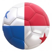 3d rendering of a Panama flag on a soccer ball. Panama is one of the team of world cup championship in Russia 2018.