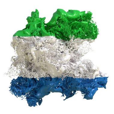 Sierra Leone flag liquid