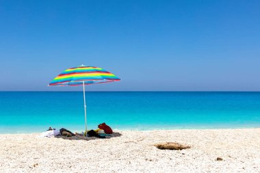 Turquoise colors of Ionian sea