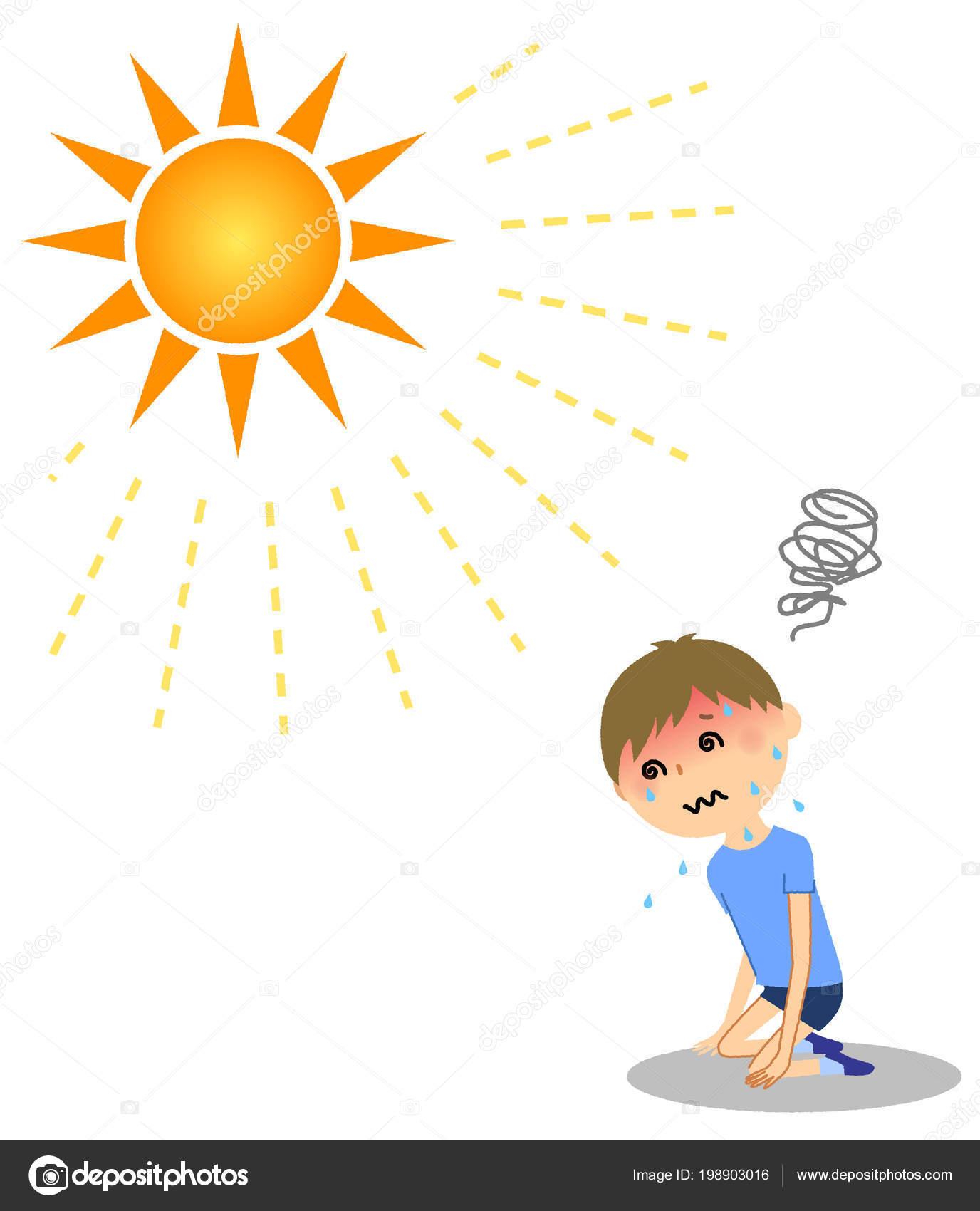 Солнечный и тепловой удар картинка