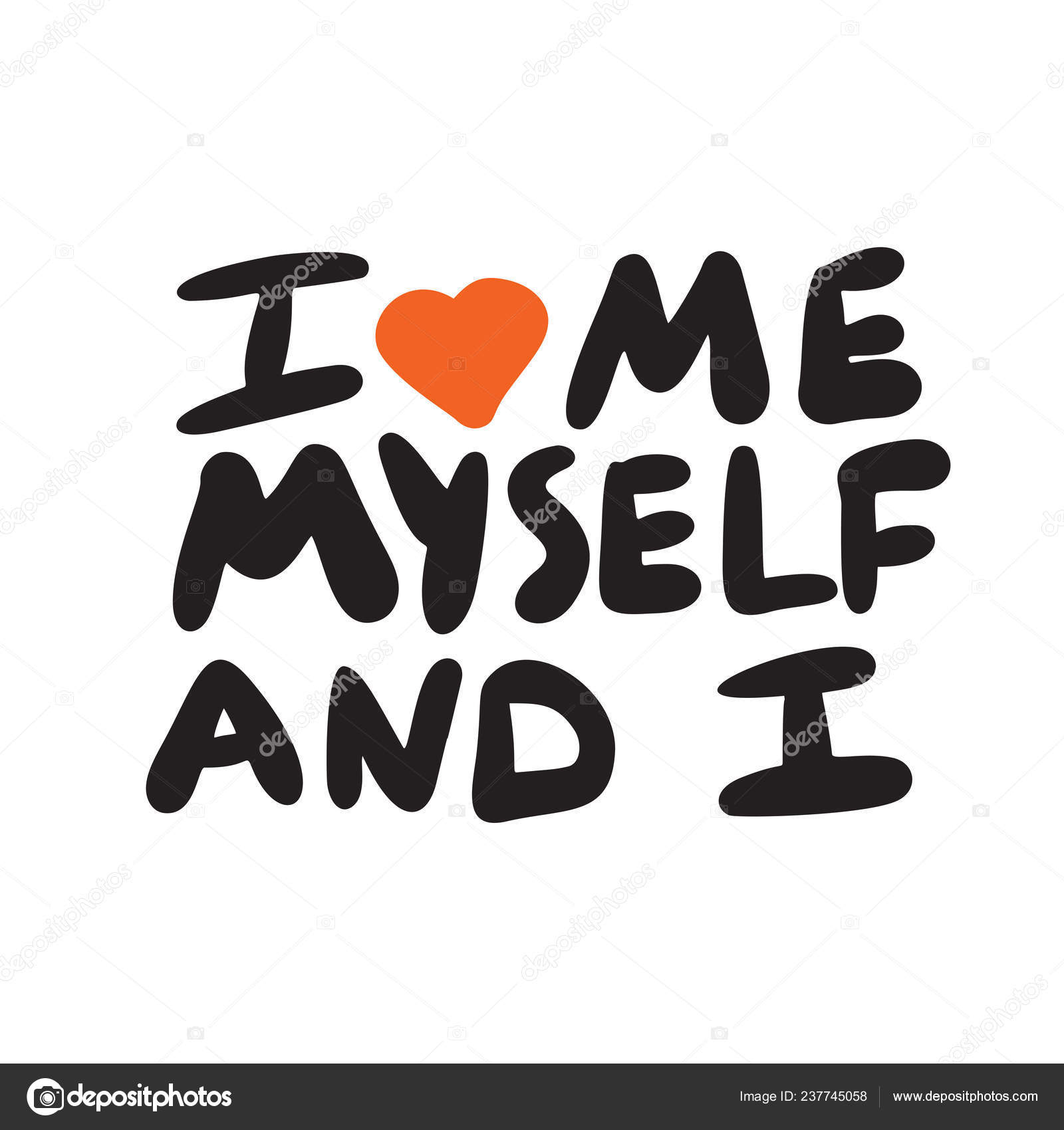 Pictures Wordplay Love Myself Funny Hand Written Poster