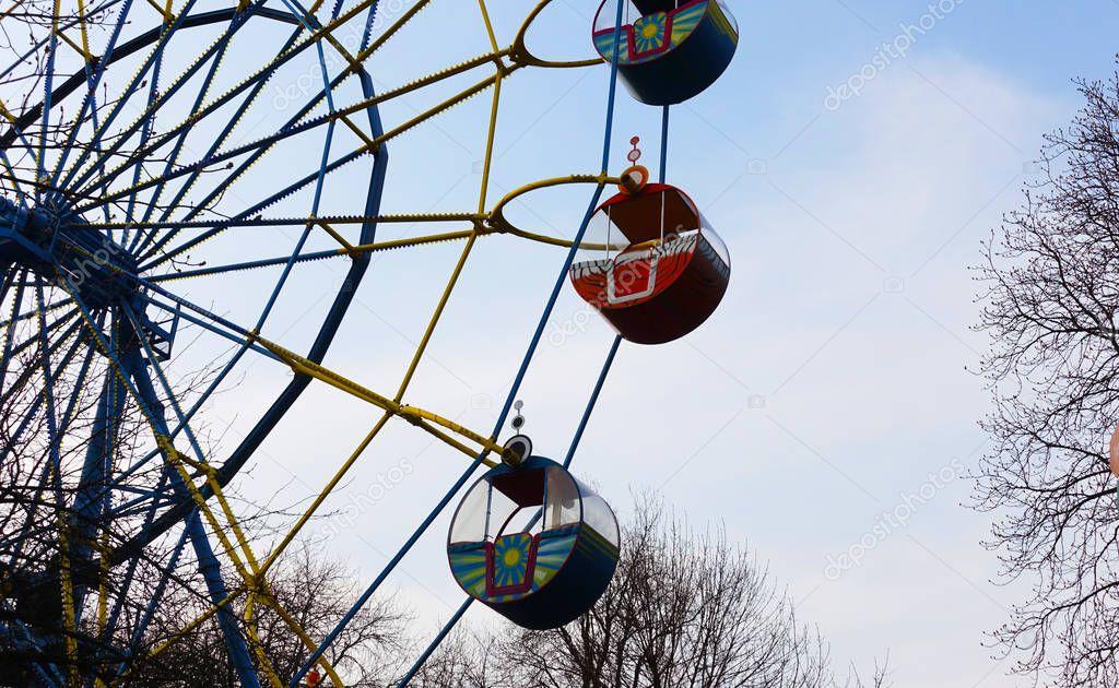 Ferris wheel on a spring day
