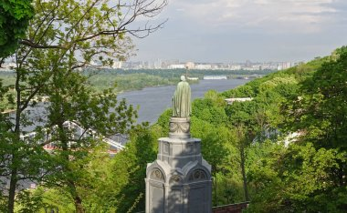 Monument to Vladimir the Baptist of Russia on the Vladimir Hill in Kiev