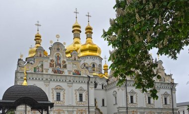 Assumption Cathedral in Kiev Pechersk Lavra in Kiev, spring day