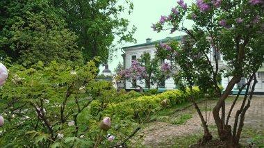 Ancient courtyard in Kiev Pechersk Lavra