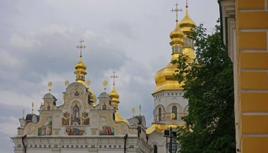 The decor of the upper part of the Assumption Cathedral of the K