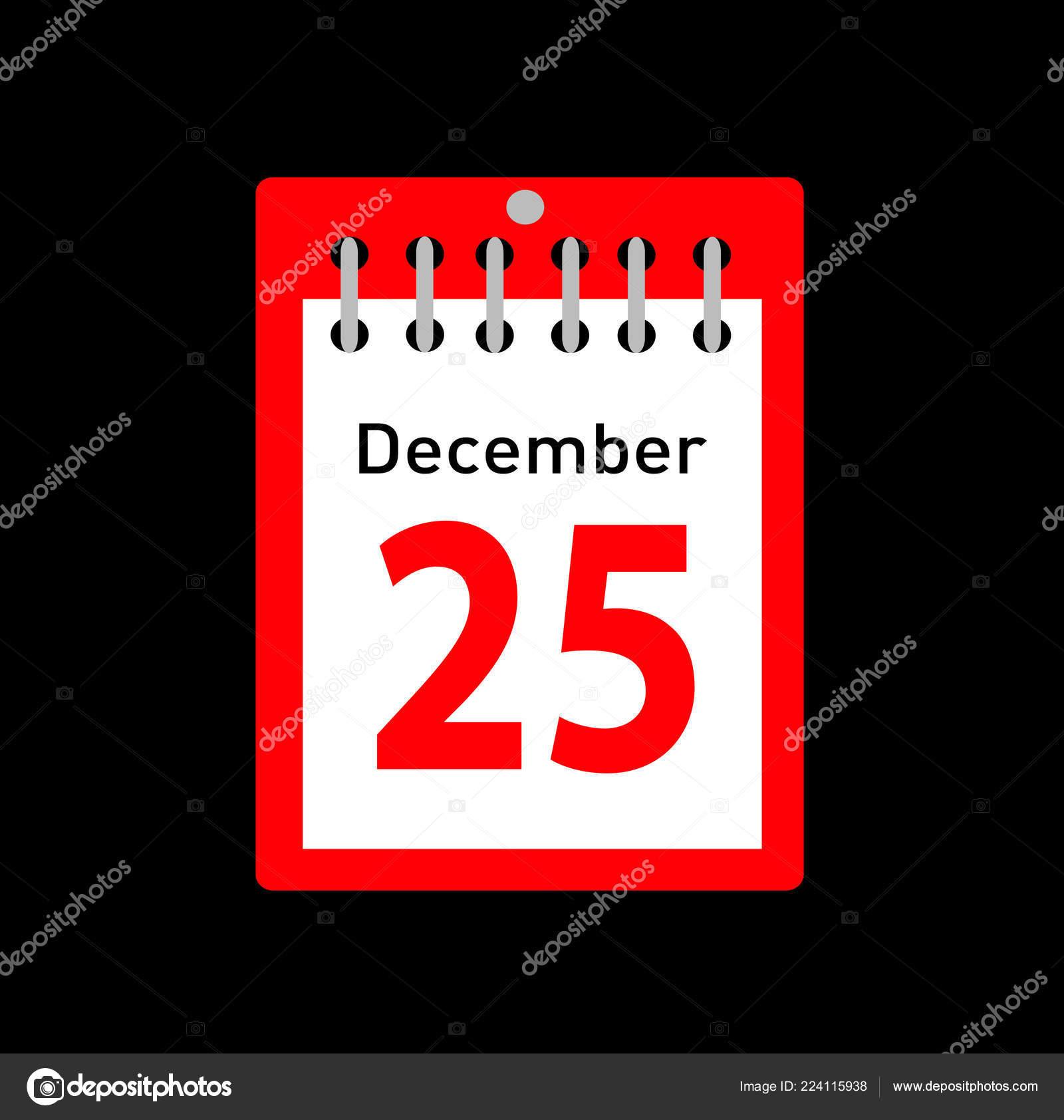 Weihnachten Datum.Vektor Illustration Des Kalenders Mit Weihnachten Datum