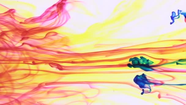 Multi colored paints mixed in water. Chaotic motion and abstract