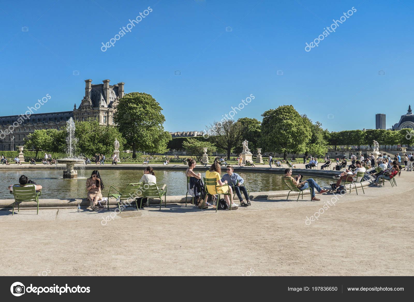 Paris France May 2018 Jardin Des Tuileries Tuileries Garden Favorite