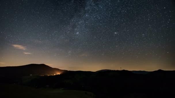 Noční hvězdy s Mléčná dráha časová prodleva