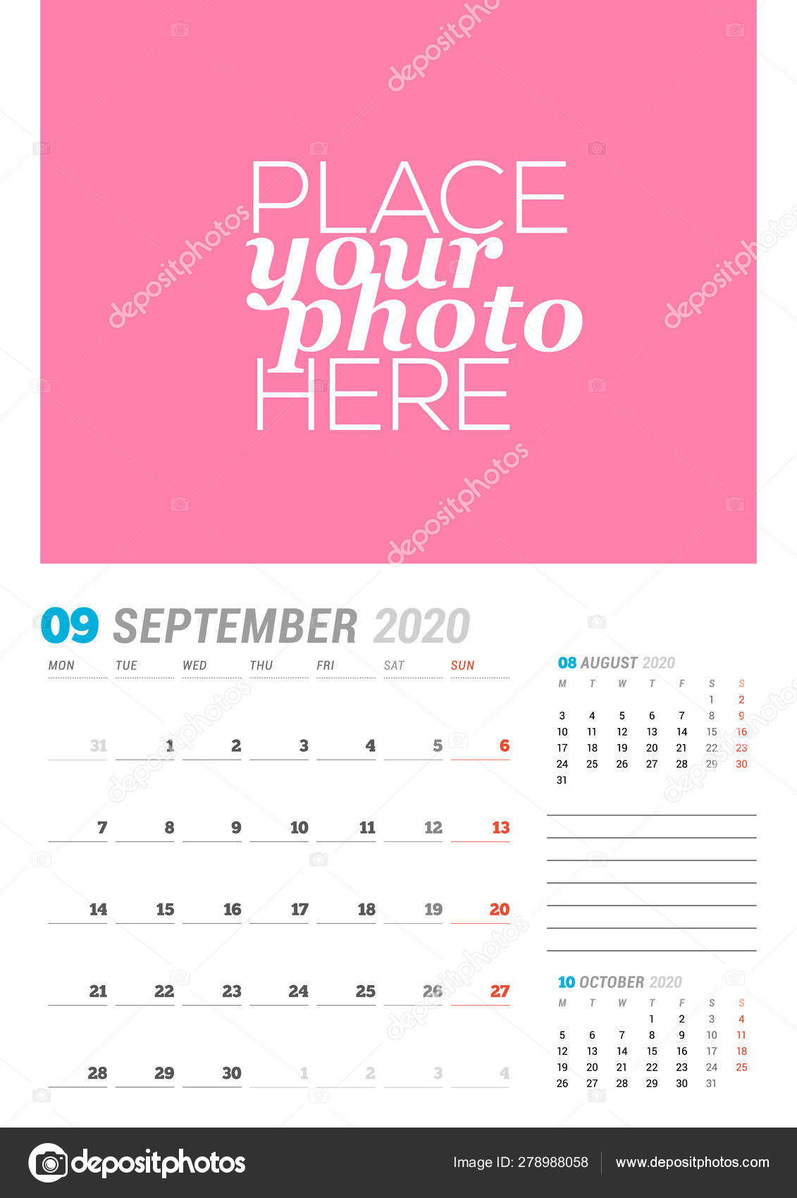 Calendario Settembre2020.Nel Settembre 2020 Modello Di Pianificazione Calendario