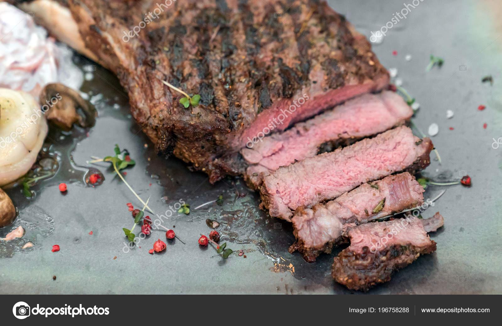 Costela Bife Grelhado Cozinha Gourmet Americana Stock Photo