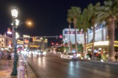 Fotografie Abstrakte unscharfer Hintergrund von Las Vegas Großstadt Cityscape in Nevada Usa Nacht