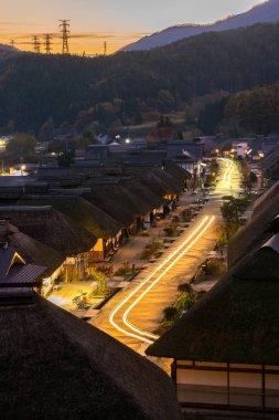 Sunset at Ouchujuku Village Fukushima Japan