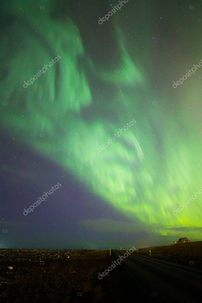 The Northern Light Aurora borealis at Keflavik Reykjavik area  Iceland