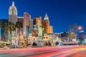 Las vegas Streifen Stadtbild in Nevada Sonnenuntergang USA