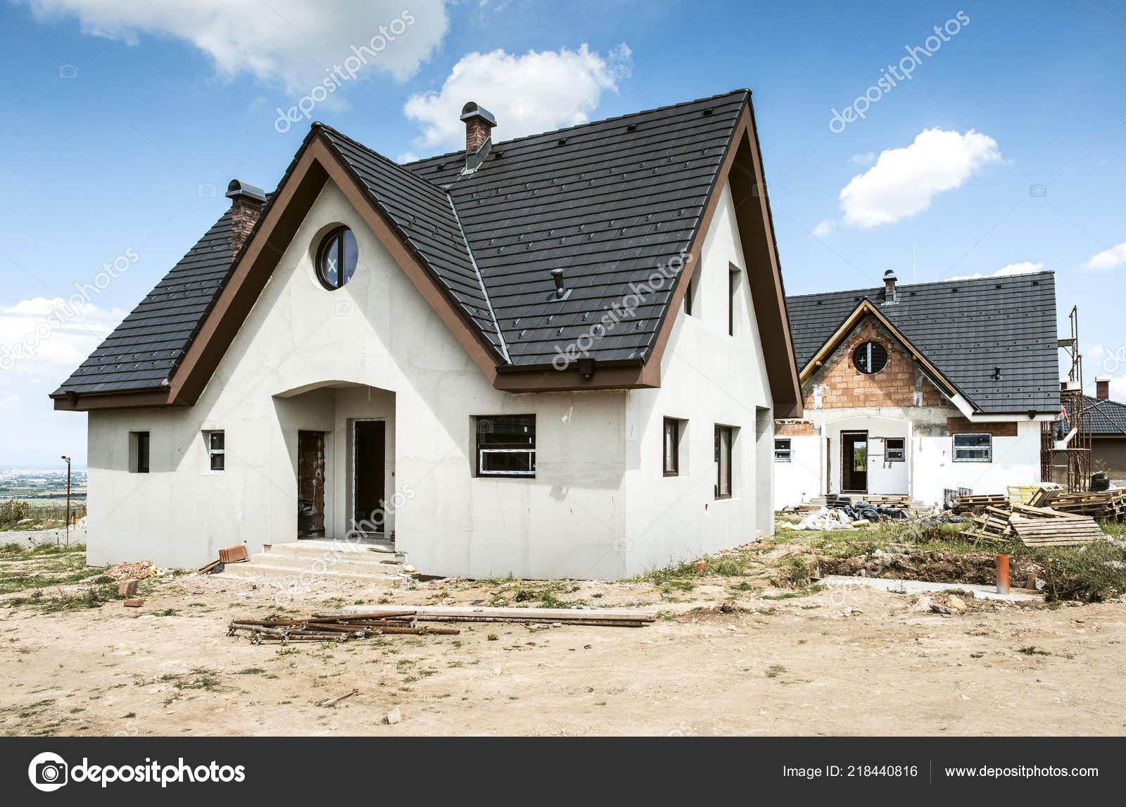 Small New Build Houses Stock Photo C Deyangeorgiev2 218440816