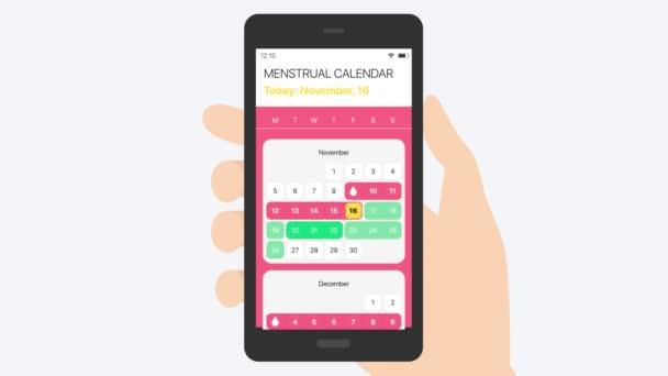 Menstruációs naptár (biztonságos dátum). Sexology 2D animáció