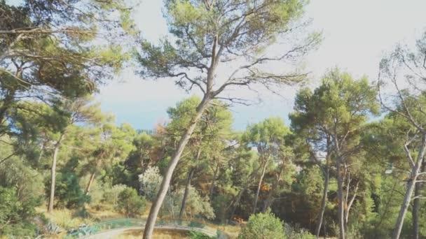 Pohled z parku Marjan Split, Chorvatsko.