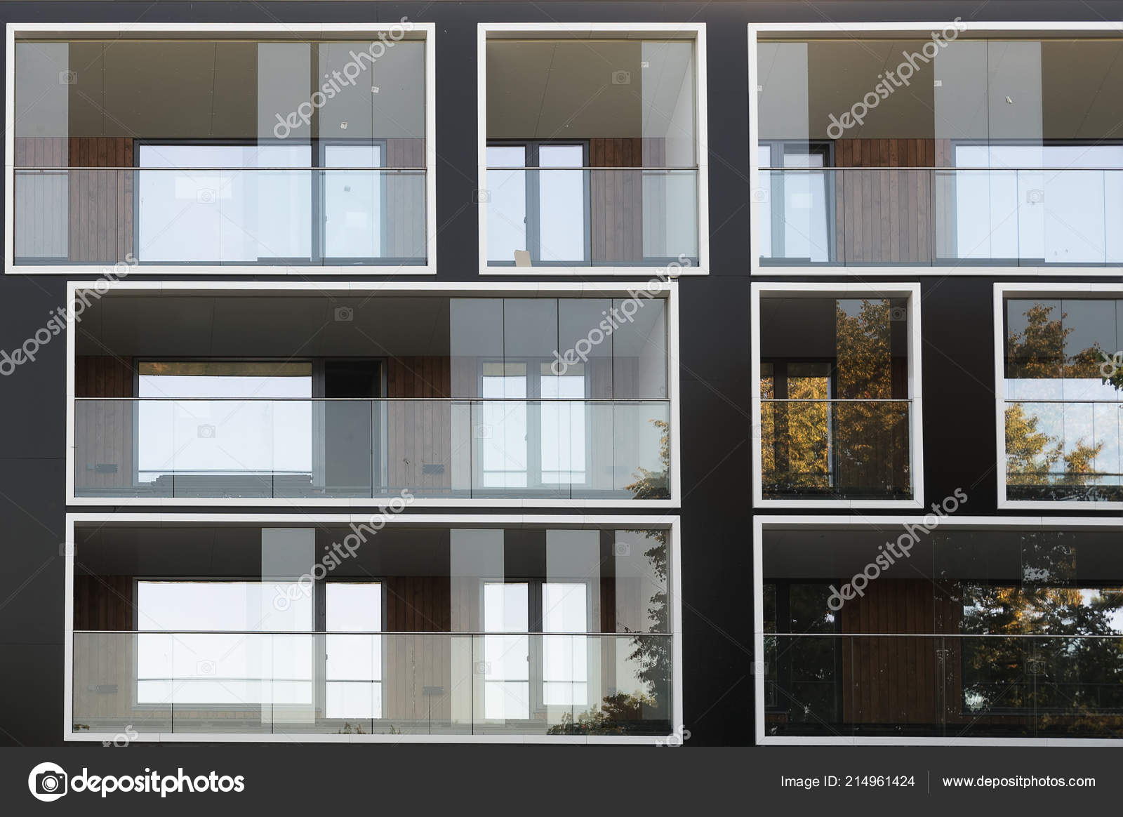 Facade New Modern Apartment Building — Stock Photo ...