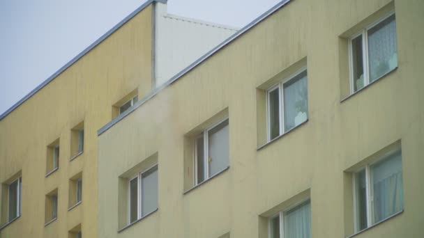 The fire in the apartment building.