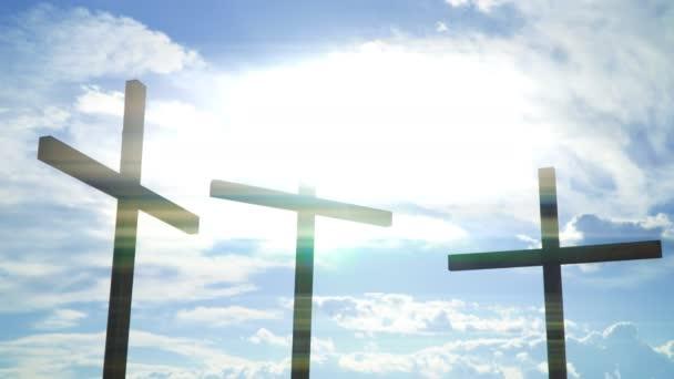 Kereszt ellen a nap. Keresztény-katolikus szimbólumok.