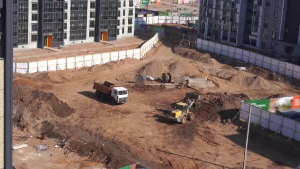 Obecný pohled na staveniště obytné části města
