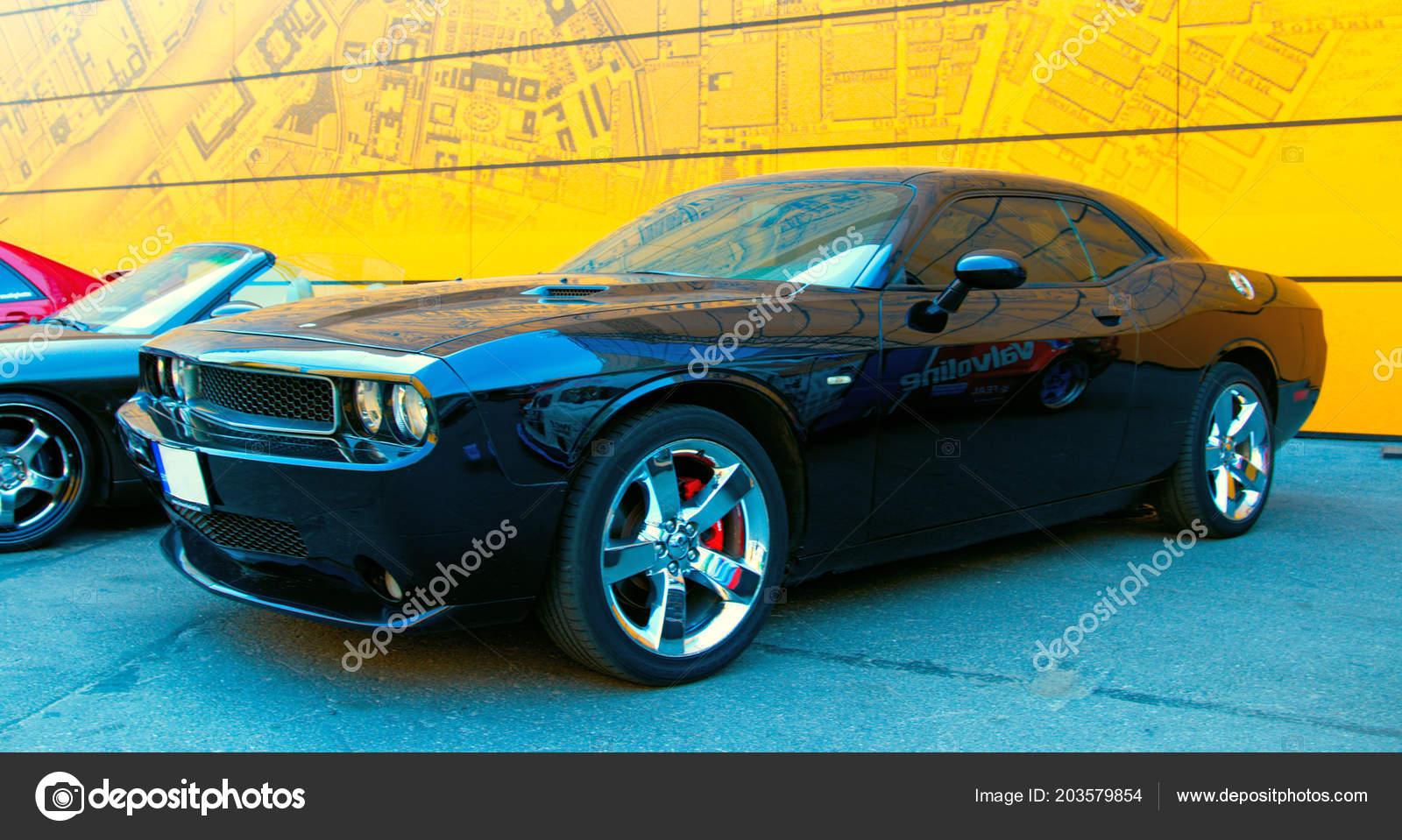 Black American Muscle Car Dodge Challenger Royal Auto Show June