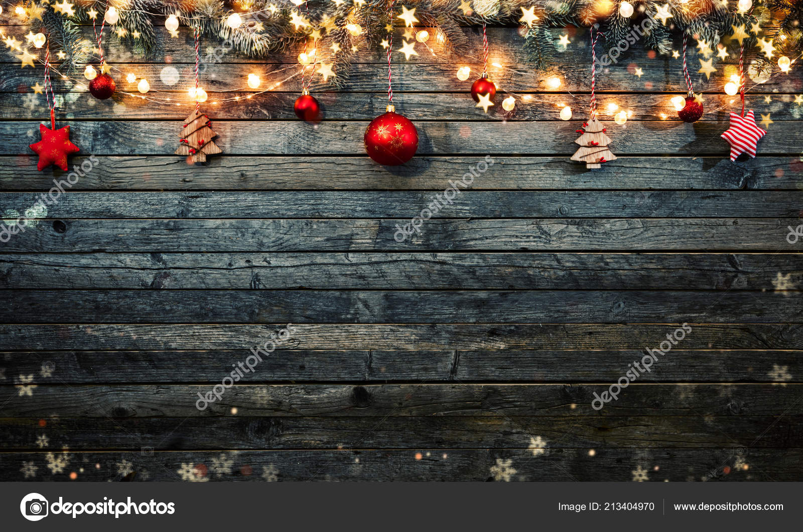Decorative Christmas Rustic Background Wooden Planks Free