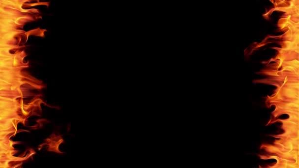 Szuper lassú tűz keret elszigetelt fekete háttér. Forgatták a nagy sebességű kamera, 1000 fps