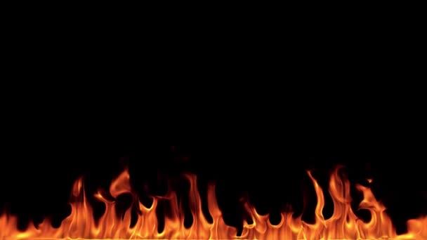 Super Zeitlupe der Feuerstelle isoliert auf schwarzem Hintergrund. Gefilmt mit Hochgeschwindigkeitskamera, 1000 fps