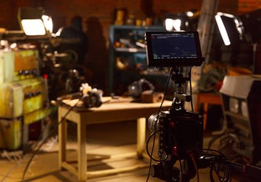 Behind the scene photo of video production, video making and film production