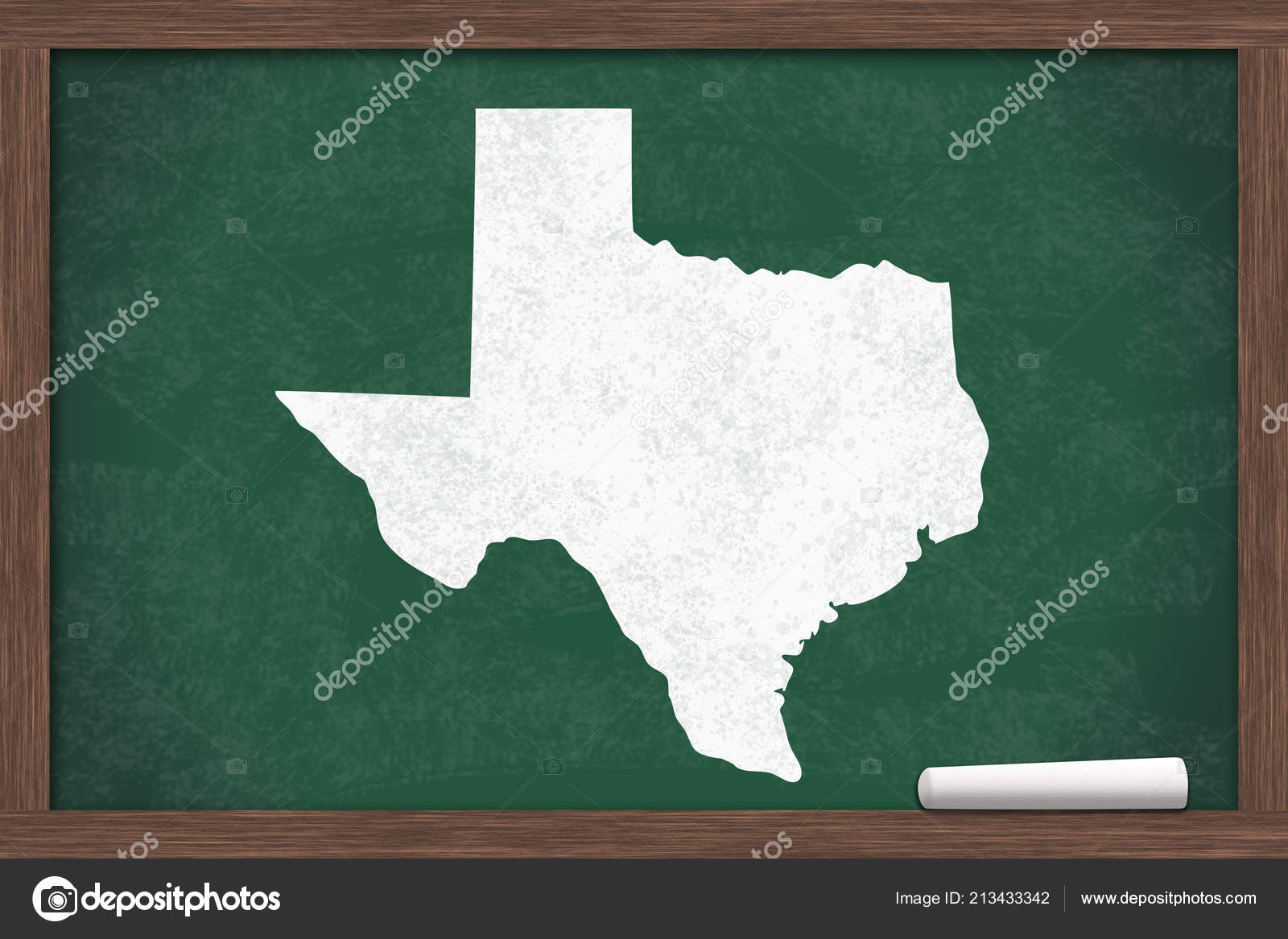 Learning State Texas Usa Map State Texas Chalkboard Piece Chalk