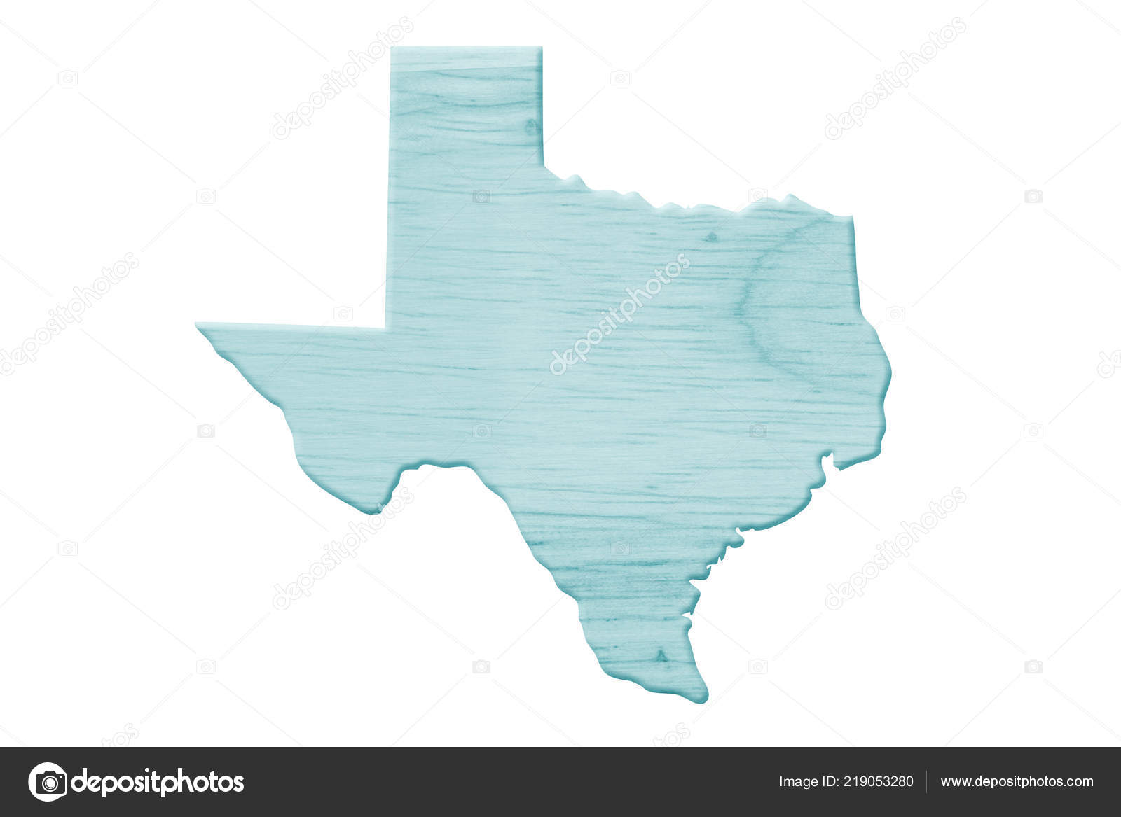 A Map Of The State Of Texas.Map State Texas United States America Made Blue Wood Isolated