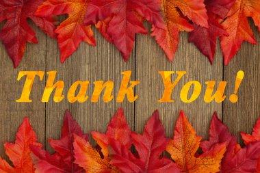 Autumn Thank You message
